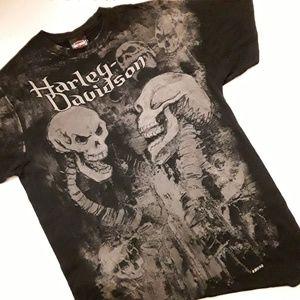 HARLEY DAVIDSON   Skeleton Black Tee